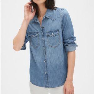H&M Denim Western Long Sleeve Shirt 6